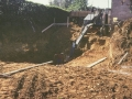Baugrubenaushub mit Fuchs